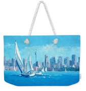 The Regatta Sydney Habour By Jan Matson Weekender Tote Bag
