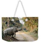 The Rhino At Kaziranga Weekender Tote Bag