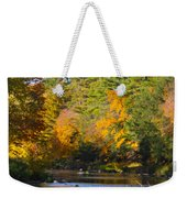 The River Flows Weekender Tote Bag