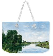 The River Touques At Saint-arnoult Weekender Tote Bag