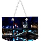 The Riverside Pool Of The Guggenheim Museum In Bilbao Spain Weekender Tote Bag