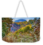 The Road To Cataloochee On A Frosty Fall Morning Weekender Tote Bag