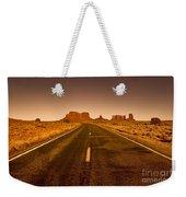 The Road To Monument Valley -utah  Weekender Tote Bag