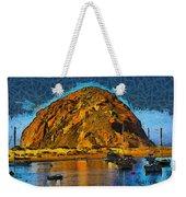 The Rock At Morro Bay Abstract Weekender Tote Bag
