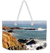 The Rocky Coastline Meets The Ocean Weekender Tote Bag