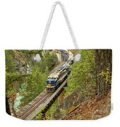 The Rocky Mountaineer Above The Cheakamus River Weekender Tote Bag