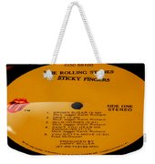 The Rolling Stones Sticky Fingers Side 1 Weekender Tote Bag