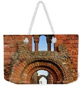 The Romanesque Doorway In The Monastery Weekender Tote Bag