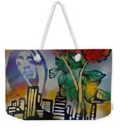 The Rose From The Concrete Gold Weekender Tote Bag