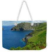 The Rugged Green Shore Weekender Tote Bag
