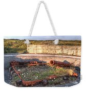 The Ruins Of A Ww2 Cannon And Bunkers Weekender Tote Bag
