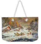 The Russian Winter Weekender Tote Bag