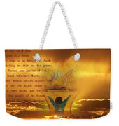 The Sacrifice Of Praise Weekender Tote Bag