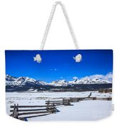 The Sawtooth Mountains Weekender Tote Bag