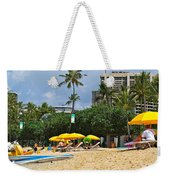 The Scene At Waikiki Beach Weekender Tote Bag