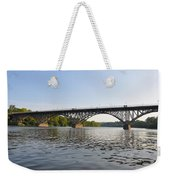 The Schuylkill River And Strawbery Mansion Bridge Weekender Tote Bag by Bill Cannon