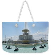 The Scott Fountain On Belle Isle Weekender Tote Bag