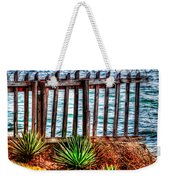 The Sea Fence Siesta Key Fla. Weekender Tote Bag