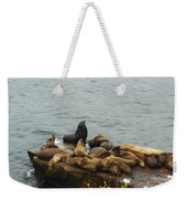 The Sea Lion And His Harem Weekender Tote Bag by Mary Machare