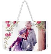 Watercolor Of A Boy And Girl In Their Secret Garden Weekender Tote Bag