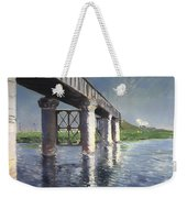The Seine And Railroad Bridge At Argenteuil Weekender Tote Bag