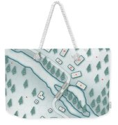 The Shadowed Keep Snowbound Village Weekender Tote Bag