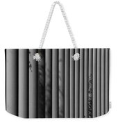 The Shadows And Pillars  Black And White Weekender Tote Bag
