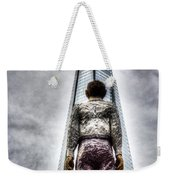 The Shard And Man Statue Weekender Tote Bag