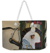 The Shoe Isn't Important The Run Is - Framed Weekender Tote Bag