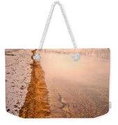 The Shore In Winter Weekender Tote Bag