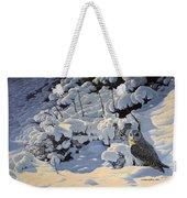 The Short Eared Owls Flew In Weekender Tote Bag