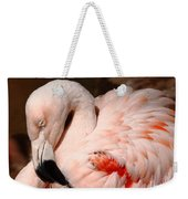 The Shy Flamingo Weekender Tote Bag