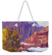 The Side Of The Road At Zion Weekender Tote Bag