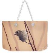 The Sideways Sparrow Weekender Tote Bag