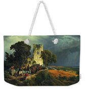 The Siege. Defense Of A Church Courtyard During The Thirty Years' War Weekender Tote Bag