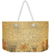 The Signing Of The United States Declaration Of Independence Weekender Tote Bag