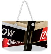 The Signpost Weekender Tote Bag
