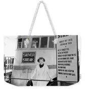 The Silver Streak Train Weekender Tote Bag