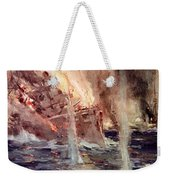 The Sinking Of The Gneisenau Weekender Tote Bag