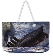 The Sinking Of The Titanic Weekender Tote Bag