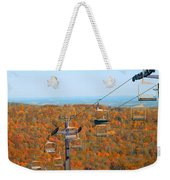 The Skiing Fields In Autumn Weekender Tote Bag