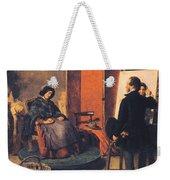 The Sleeping Model Weekender Tote Bag