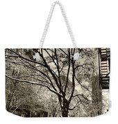 The Snow Tree - Sepia Antique Look Weekender Tote Bag