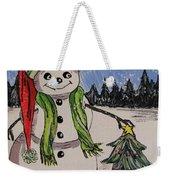 The Snowman's Tree Weekender Tote Bag