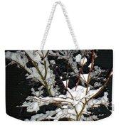 The Snowy Tree Weekender Tote Bag