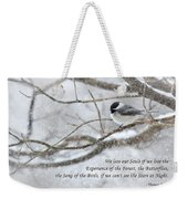 The Song Of The Birds Weekender Tote Bag