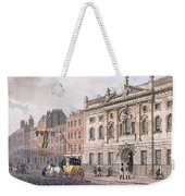 The South Front Of Ironmongers Hall, From R. Ackermanns Repository Of Arts 1811 Colour Litho Weekender Tote Bag