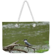 The Southern Kingfisher Side View Weekender Tote Bag
