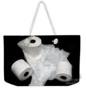 The Spare Rolls 3 - Toilet Paper - Bathroom Design - Restroom - Powder Room Weekender Tote Bag