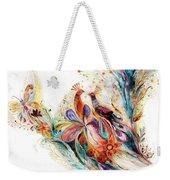 The Splash Of Life Series Pure White No 1 Weekender Tote Bag